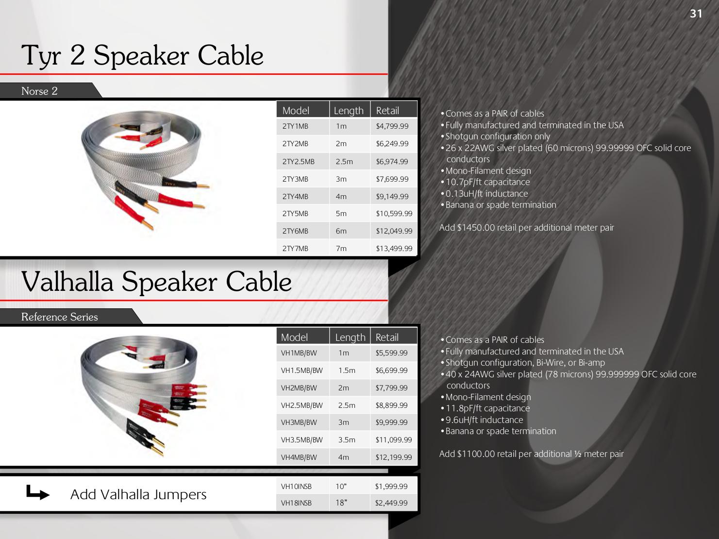nordost valhalla reference cable jumper links x 4 for bi wire speakers rrp 2000 ebay. Black Bedroom Furniture Sets. Home Design Ideas