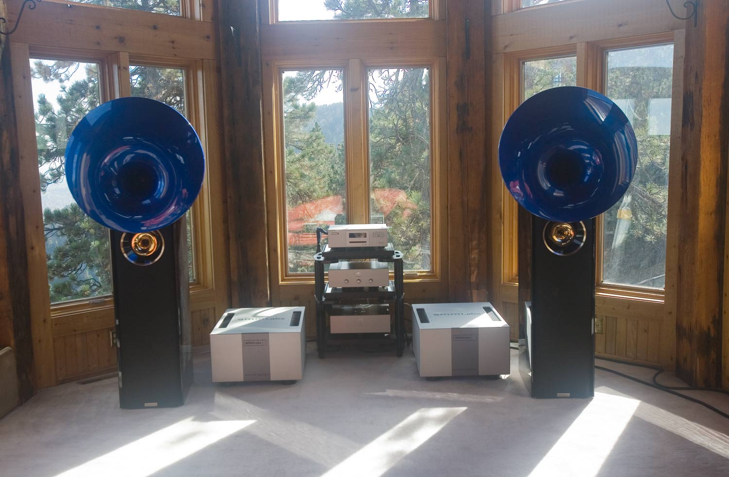 emm labs mtrx amps on acapella speakers