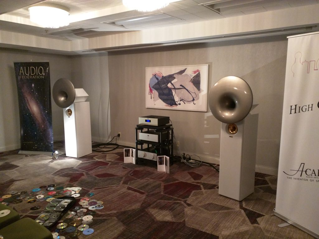 California audio show setup day