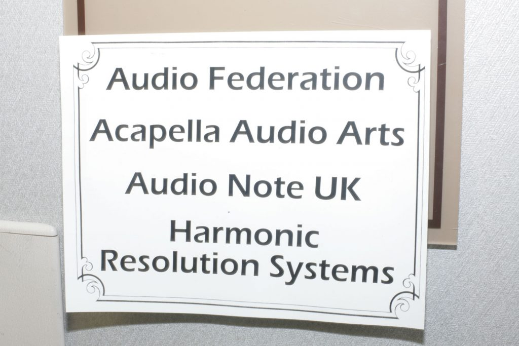 Audio Federation, Acapella Audio Arts, Audio Note UK, Harmonic Resolution Systems – California Audio Show 2017