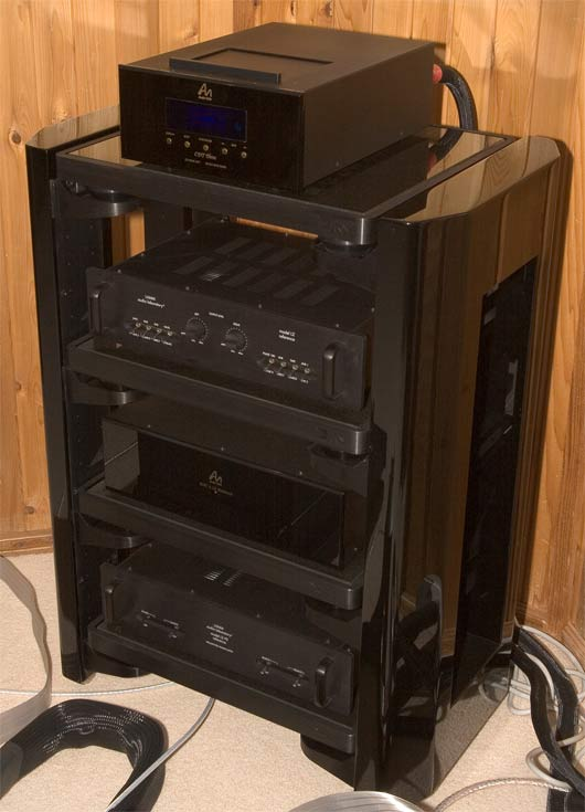 Harmonic Resolution Systems (HRS) MXR equipment rack for sale (demo) gloss black