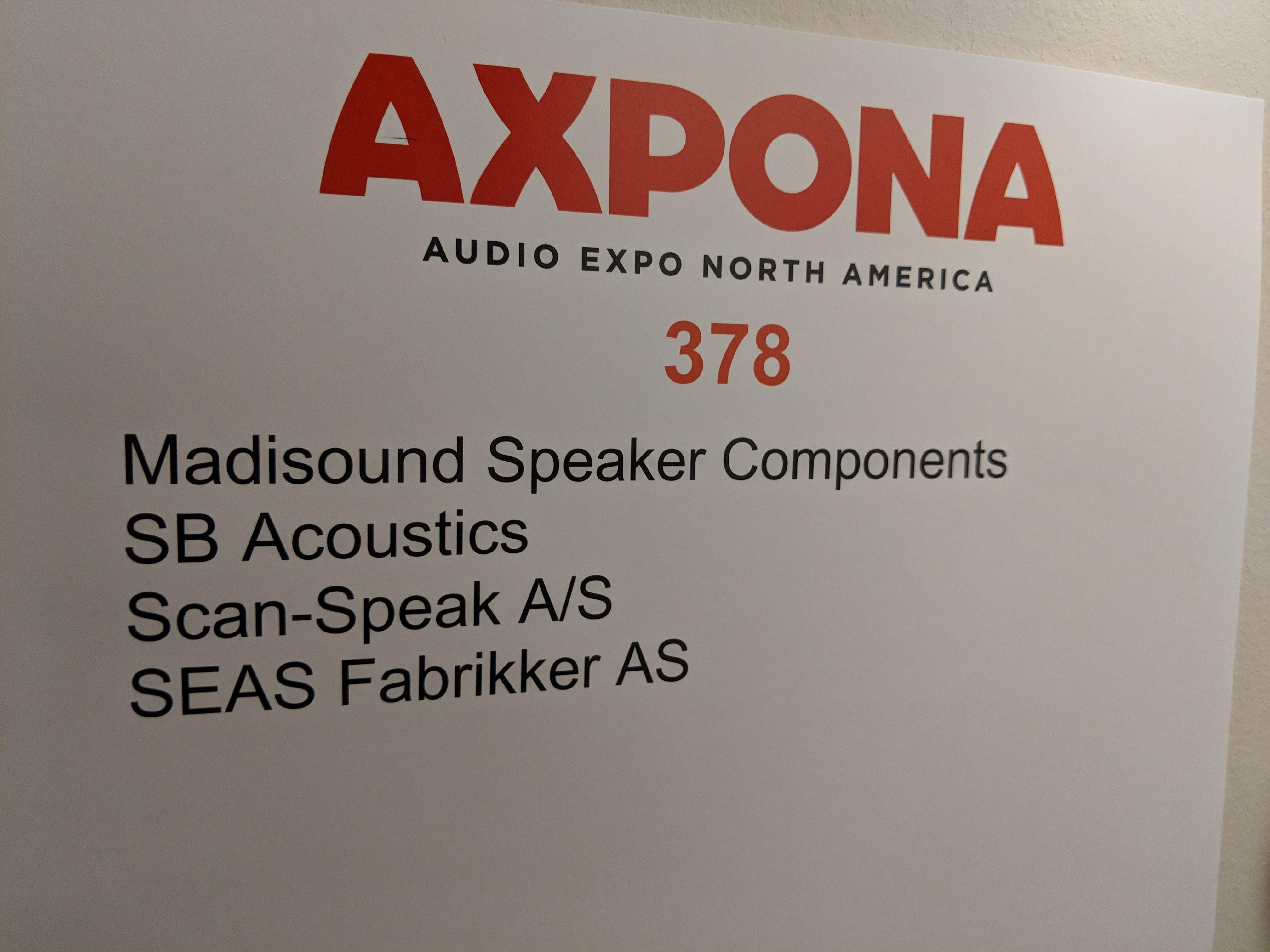 Madisound Speaker Components - Axpona 2018 - Audio Federation