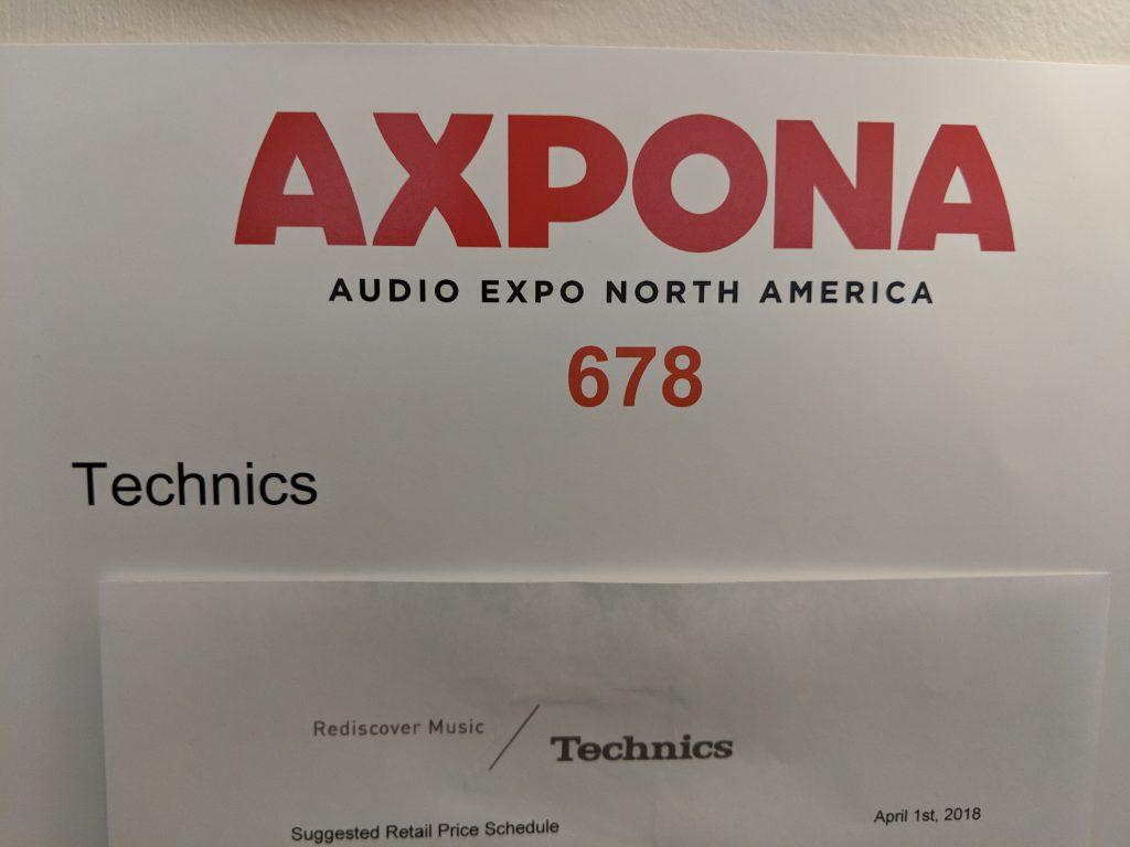 Technics – Axpona 2018