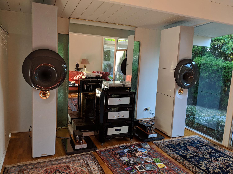 Acapella Campanile 2 loudspeakers, Audio Note, and CAS 2018 - Audio