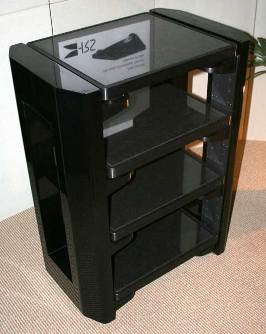 Gloss black HRS MXR equipment rack