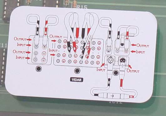 The Nordost VIDAR how-to-use diagram