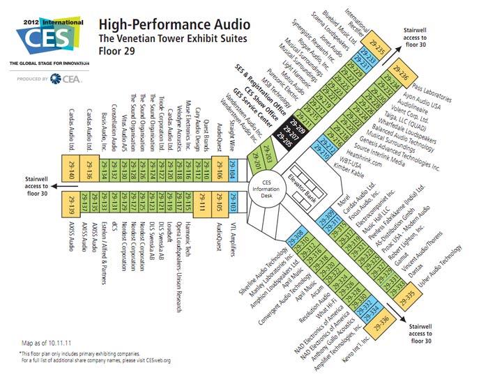 Ces 2012 High End Audio High Performance Audio Venetian Tower Floor Plans Maps Audio Federation