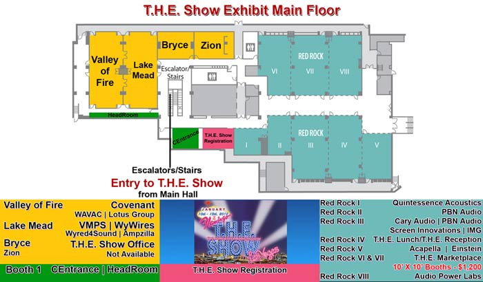 CEDS THE Show The Home Entertainment Show The Flamingo - Las vegas floor plans